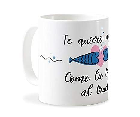 Personaliza tu carcasa Tazas de café o Desayuno con diseños de Latorita | Tazas de cerámica Blanca (AAA) | Taza con Frase - Te Quiero Mucho como la ...