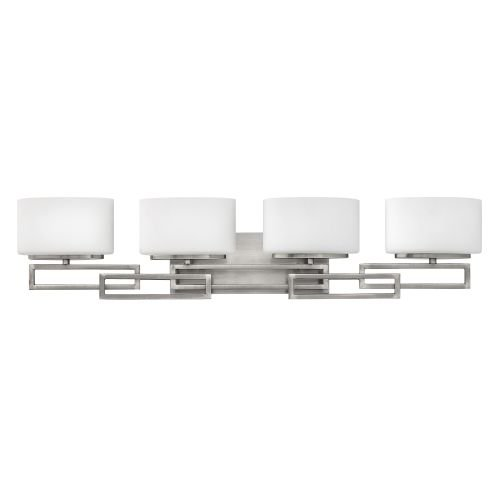 Lighting Bathroom Hinkley Fixtures (Hinkley Lighting 5104AN Lanza Antique Nickel 4 Light Vanity)