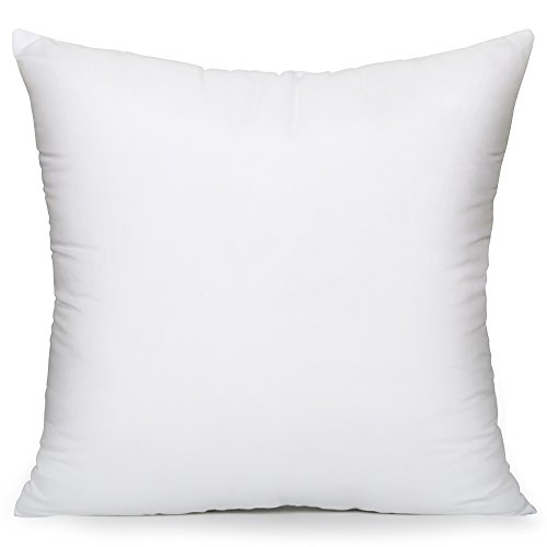 Acanva Hypoallergenic Pillow Insert Sham Cushion Form, Square, 28