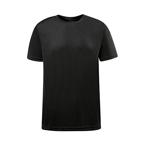 (Asysst Men's Running Sport T Shirts Short Sleeve Athletic Workout Shirts Crew Neck S-3XL Black X-Large)