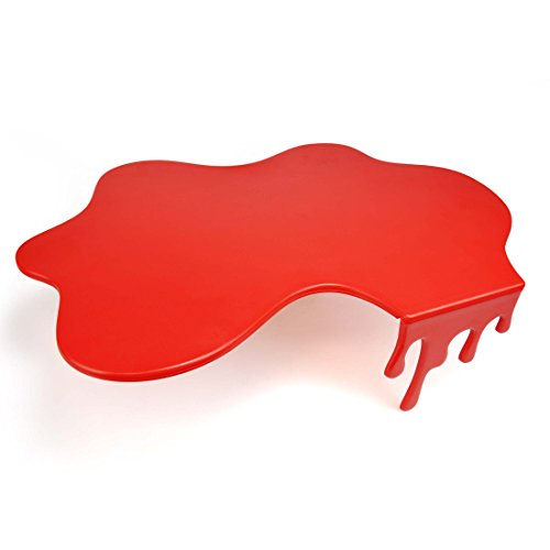 Mustard Cutting Chopping Board Worktop Saver - Red Splash