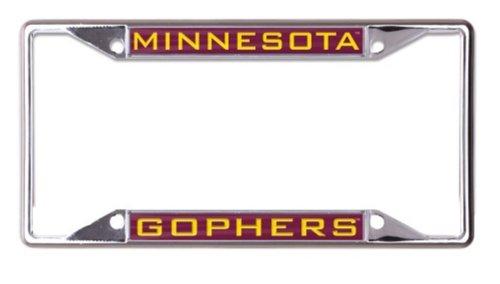 WinCraft NCAA University Minnesota Golden Gophers 6 x 12 Inlaid Acrylic/Metal License Plate Frame ()