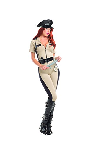 4 Piece State Trooper Police Officer Cop Jumpsuit Halloween Party (State Fair Halloween Costumes)