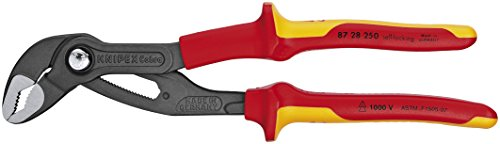 Cobra Water - Knipex Tools 87 28 250 SBA Cobra Water Pump Pliers Insulated 1000-volt Tested