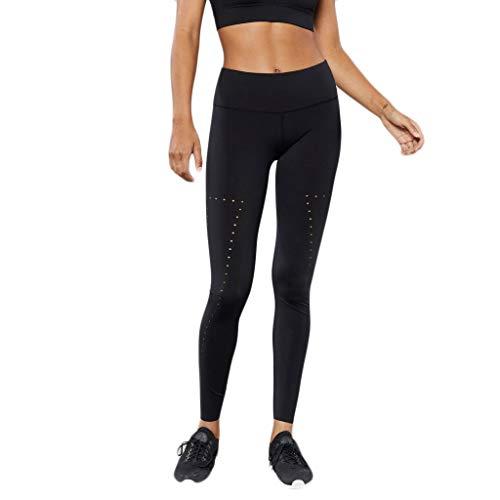 - TOPBIGGER Women's Power Flex Yoga Pants Breathable Slimming Leggings Workout Tights Black