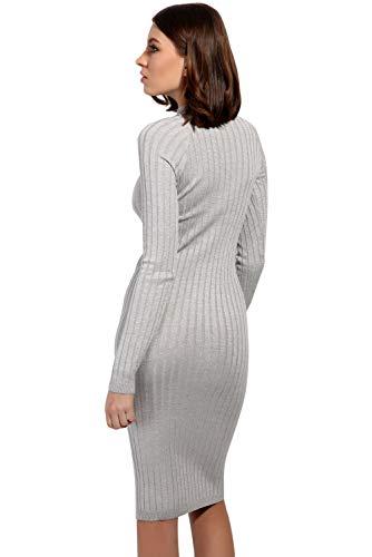 Blouse Hiver Zzls Longues Manches Gris Sweater Tricot Mince Pull Line Over A Robe Robe Haut Pull Casual Robe Cocktail Jumper BienBien de Mini Automne Party Tunique Tricot Femme qX04Iw