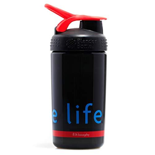 Fitlosophy Black and Red Blender Bottle with Blender Ball, 20 fl. oz. Review