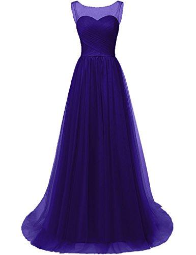 Annies A11 Evening Aline Bridal Dress Cross Dress Bridesmaid Criss Long Pleats Tulle wqwfPgr