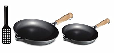 Berndes Tradition Fry pan Set, Includes 9-1/2-Inch Skillet, 11-Inch Skillet and Spatula