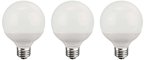 TCP G25, E26 Base, LED Globe Light Bulbs, 40 Watt Equivalent, Non-dimmable, Soft White (3-pack)