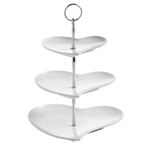 Edge 10 Woven Mm - Mw Wba Heart 3 Tier Cake Stand Gb