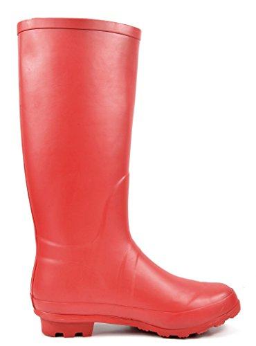 Arctiv8 Donna Origine-corta Gomma Invernale Pioggia Stivali Da Pioggia Rosso