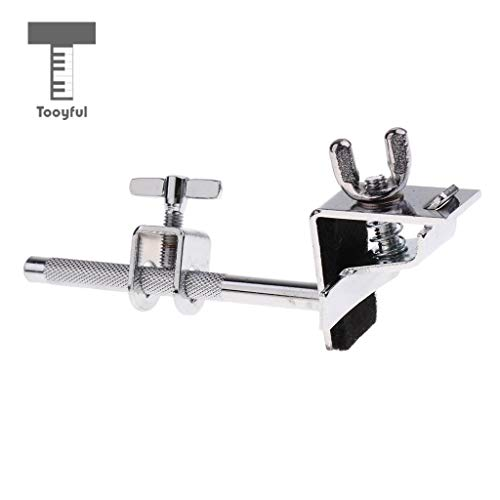 Value-5-Star - Adjustable Metal Bass Drum Hoop Mount Cowbell Holder Clamp Drum Hardware DIY for Drum Player