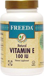 Freeda Kosher Vitamin E 100 IU With Mixed Tocopherols 100 TAB