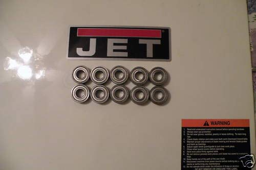 JET 18 INCH BAND SAW BLADE GUIDE BEARINGS 10 PIECE SET FOR JWBS-18X BAND SAW -  mnb