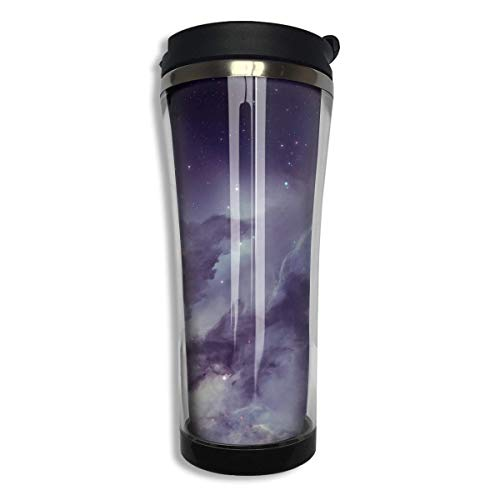 Etching Dichroic Glass - Maliin Nebula Design Women's Man Stainless Steel Food Grade ABS Travel Mugs Coffee Thermal Tumbler Cups Large Capacity