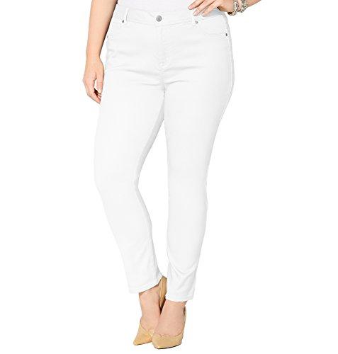 AVENUE Women's Butter Denim Legging Jean (White) 28-32, 28 White