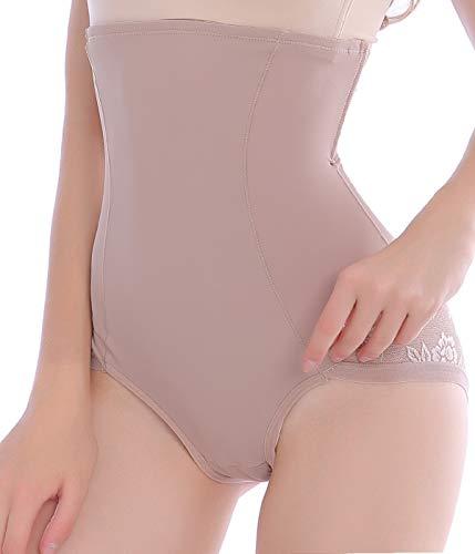 Women Tummy Firm Control Waist Shapewear Panties Girdle Underwear Body Shapers High Waisted Shape Wear Shaping Brief (Beige, -