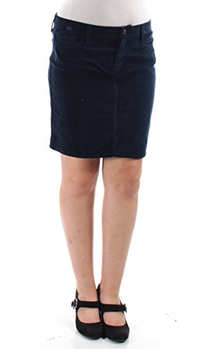 Tommy Hilfiger Womens Corduroy Ribbed Mini Skirt Navy 8