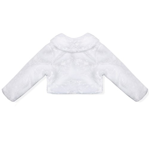 Amazon.com: dPois Girls Toddlers Flower Dress Faux Fur Long Sleeve Bolero Wedding Jacket Shrug Bridesmaid Party Coat Capelet: Clothing