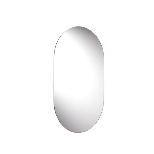 Croydex Harrop Rounded Rectangle Wall Mirror 26-Inch x 16-Inch with Hang 'N' -