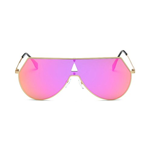 Forthery Vintage Retro Square Frame Aviator Mirror Lens Women Men Polarized Sunglasses - Sunglasses Cap