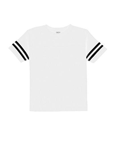 A Product of Rabbit Skins Toddler FootballFine Jersey T-Shirt -Bulk S White/Black
