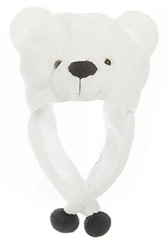 Animal Head Super Soft Plush Childrens Hat - Polar (Toddler Polar Bear Costumes)