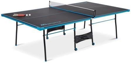MD Sports Taille officielle Table de tennis de table, Noir/bleu
