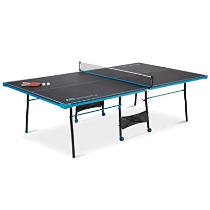 MD Sports Official Size Table Tennis Table, Black/Blue