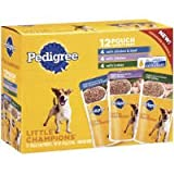 Pedigree Little Champions Variety Pack Meaty Ground Dinner Pouches Dog Food, My Pet Supplies