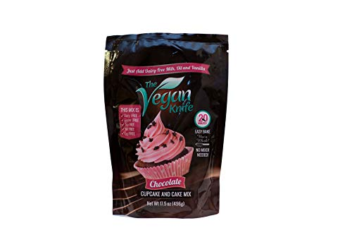 The Vegan Knife Gluten Free & Vegan Cupcake and Cake Mix Chocolate Flavor