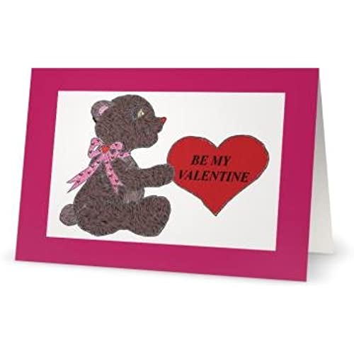 Valentines Day Love Bear Child Son Daughter Niece Greeting Card 5x7 by QuickieCards Sales