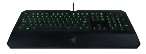 Razer DeathStalker Expert - Backlit Ergonomic Fully Programmable Membrane Black Gaming Keyboard - 10 Key Rollover