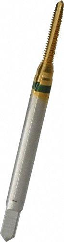 (GUHRING 9039160021840 Spiral Point Tap, Plug, Cobalt, TiN Coating, 3 Flute, 2-56 Size)