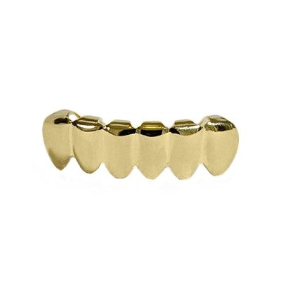 Grillz 14K Gold Plated Small Bottom Golds Lower Teeth Bling Tooth Hip Hop Mouth Grills (Gold Teeth Wax compare prices)