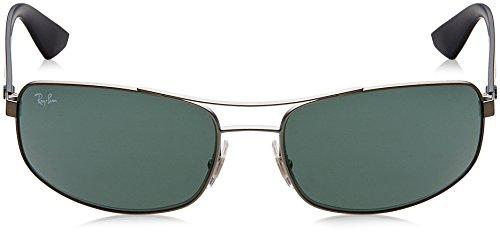 de sol Rectangulares Ray Matte 61 Gunmetal 0Rb3527 Gafas Ban ngnIqHAt