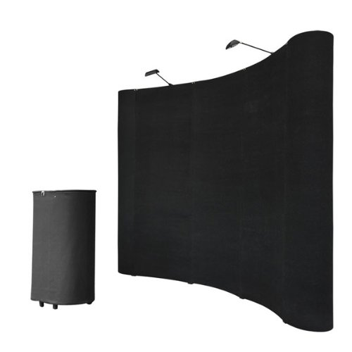 8'x8' Portable Trade Show Display Booth Pop Up Black w/ All-in-one Carrying Case by China OEM
