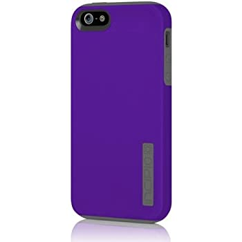 iPhone 5 5S SE Case, Incipio DualPro Case Shockproof Hard Shell Hybrid Authentic Rugged Cover - Indigo Violet/Gray