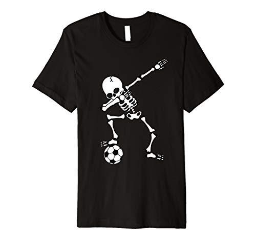 (Dabbing Skeleton Shirt, Soccer, Halloween Costume Dab)