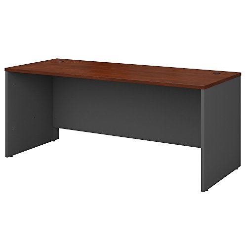Hutch Modular Office Furniture - Bush Business Furniture Series C 72W x 30D Office Desk in Hansen Cherry