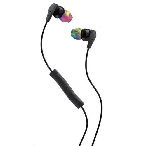 (Skullcandy Method Sweat Resistant Sport Earbud with In-Line Microphone and Remote, Lightweight and Secure In-Ear Fit for Running and Exercise, Cable Management Clip for Workouts, Black/Swirl/Cool Gray)