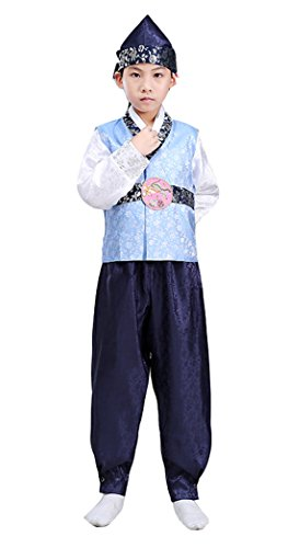 Korean Traditional Costume For Boys (Ez-sofei Boys Korean Traditional Costume Hanbok Sets 140 Blue)