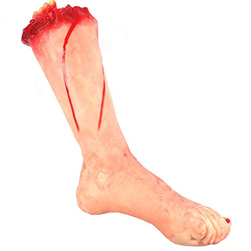 F N Cut Off Severed Bloody Leg Halloween Haunted House Prop Accessory -