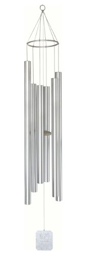 Grace Note Chimes 2XX Super 6 Note Treasure of Heaven Wind Chimes, 72-Inch, Silver For Sale