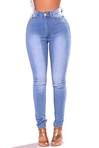 l'eau Femme Blue Mode De Lessive La Bleu DAMENGXIANG lastique Sky Serr Jeans gEXAAwq