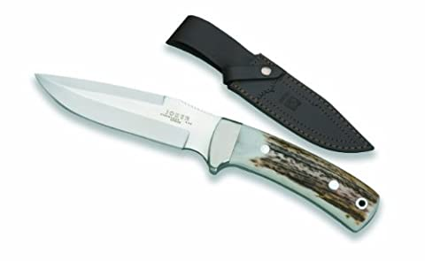 Joker CC47USA Stainless Blade Hunting Knife and Stag Horn Handle, 5.07-Inch (Stag Horn Handle Knife)