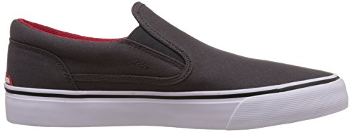 Dc Shoes Trase Zapatillas Sin Cordones, Color: Grey/Black/Red, Talla: 42 EU