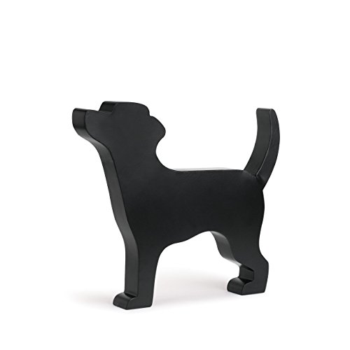 (DEMDACO Large Standing Black Dog 14.5 x 17 Metal Iron Figurine)