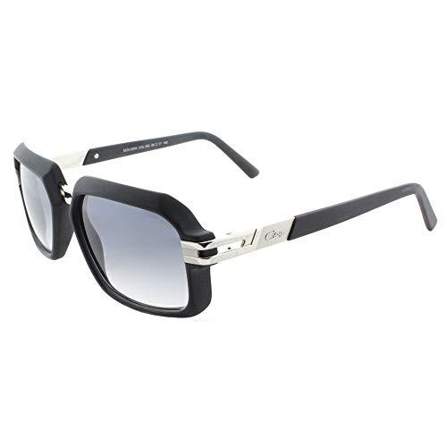 Cazal 6004S Sunglasses 002SG Matte Black Silver/Light Grey Gradient 56 ()